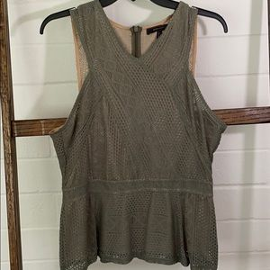 NWOT Bcbg olive green top